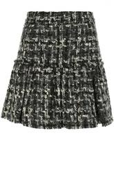 Буклированная мини-юбка А-силуэта Dolce & Gabbana