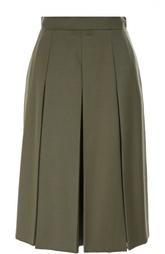 Шерстяная юбка-миди в складку Alexander McQueen