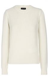 Кашемировый пуловер прямого кроя с круглым вырезом Giorgio Armani
