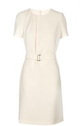 Приталенное платье с круглым вырезом и поясом HUGO BOSS Black Label