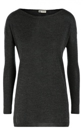 Удлиненный кашемировый пуловер с вырезом-лодочка Colombo