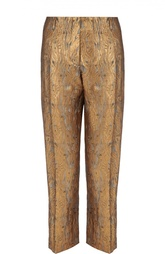 Укороченные брюки прямого кроя с металлизированной отделкой Dries Van Noten