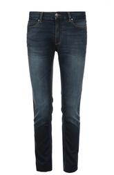 Зауженные джинсы с контрастной отстрочкой Hugo