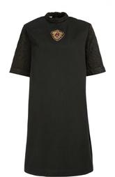 Платье прямого кроя с укороченным рукавом и воротником-стойкой Dries Van Noten