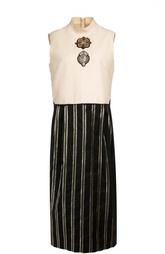 Платье прямого кроя без рукавов с высоким воротником Dries Van Noten