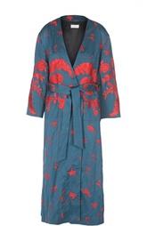 Удлиненное пальто-кимоно с цветочным принтом Dries Van Noten