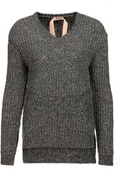 Пуловер с удлиненной спинкой и V-образным вырезом No. 21