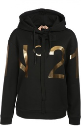 Толстовка с капюшоном и металлизированным логотипом бренда No. 21