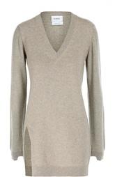 Удлиненный кашемировый пуловер с V-образным вырезом Barrie