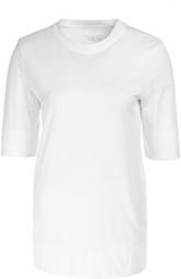 Удлиненная футболка прямого кроя с круглым вырезом DKNY