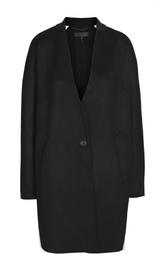 Шерстяное пальто свободного кроя с контрастной отделкой Rag&Bone Rag&;Bone