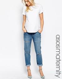 Рваные джинсы в винтажном стиле для беременных ASOS Maternity - Miami