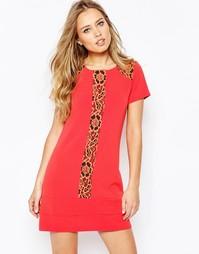 Цельнокройное платье с кружевной отделкой Hedonia Maddie - Оранжевый