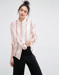 Розовая рубашка в полоску Essentiel Antwerp Mallih - Кремовый