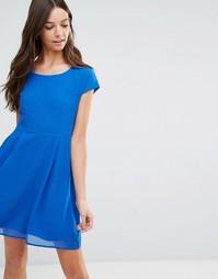 Короткое приталенное платье Jasmine - Синий