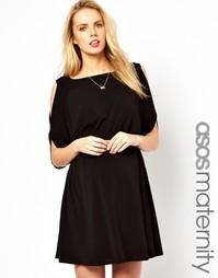 Платье для беременных с открытыми плечами эксклюзивно для ASOS Materni