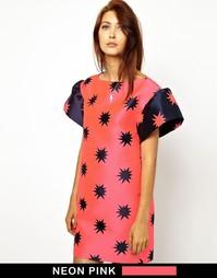 Жаккардовое платье c рукавом-клеш House of Holland Jess - Starburst