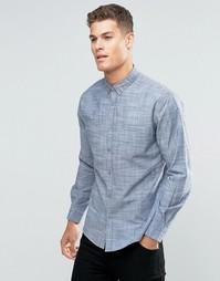 Серая однотонная фланелевая рубашка слим Sliver Eight - Синий
