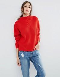 Джемпер крупной вязки с высокой горловиной ASOS Ultimate - Красный