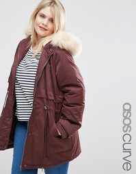 Парка ASOS CURVE Ultimate - Ягодный