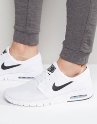 Nike SB Stefan Janoski Max Trainers In White 631303-100 - Белый