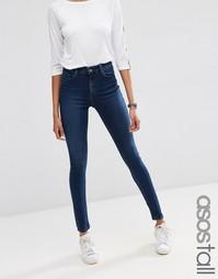 Облегающие выбеленные джинсы ASOS TALL Ridley - Синий