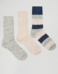 3 пары толстых носков с неоновыми непсами ASOS - Мульти