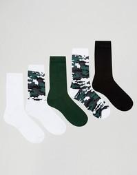 Набор из 5 пар носков с камуфляжным рисунком ASOS - Мульти