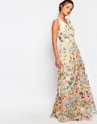 Платье макси с цветочной вышивкой True Decadence - Мульти