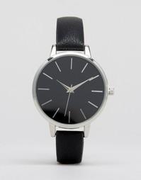 Наручные часы с черным циферблатом ASOS - Черный