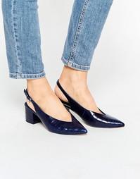 Туфли на каблуке ASOS SIDEWAYS - Темно-синий