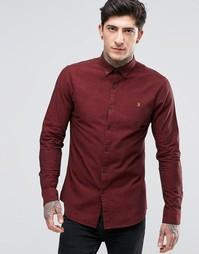 Оксфордская рубашка слим Farah - Красный