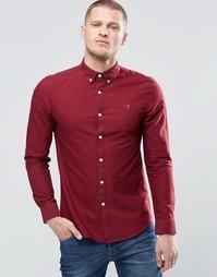 Оксфордская рубашка узкого кроя Farah - Красный