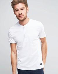 Винтажная футболка Selected Homme - Белый