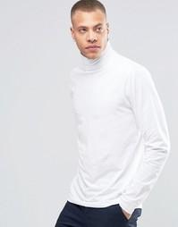 Трикотажная футболка с отворачивающимся воротником !SOLID - Белый