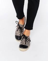Эспадрильи с леопардовым принтом на шнуровке Bronx - Leopard Blink