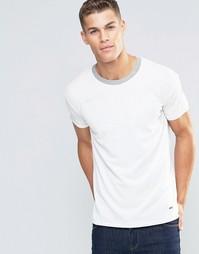 Свободная футболка из ткани пике с контрастной горловиной Boss Orange