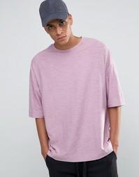 Свободная розовая футболка ASOS - Розовый мел