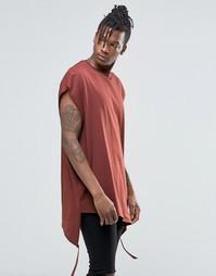 Oversize-футболка с необработанной горловиной и отделкой ASOS