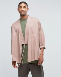 Розовое кимоно с запахом ASOS - Пыльно-розовый