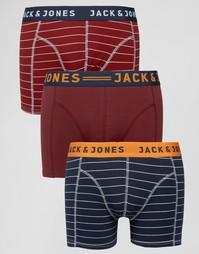 Набор из 3 боксеров-брифов в полоску Jack & Jones - Мульти