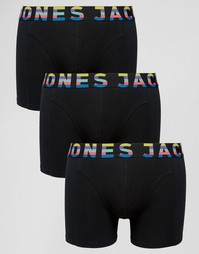3 пары боксеров-брифов Jack & Jones - Черный