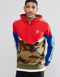 Худи с камуфляжным принтом adidas Originals AY8106 - Красный