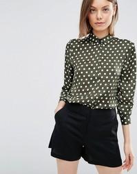 Атласная блузка в горошек ASOS - Мульти