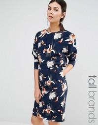 Платье с длинными рукавами и цветочным принтом Y.A.S Tall - Мульти