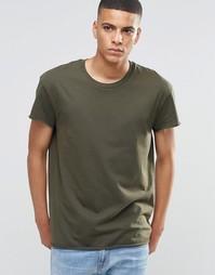 Oversize-футболка с необработанным краем Selected Homme - Зеленый