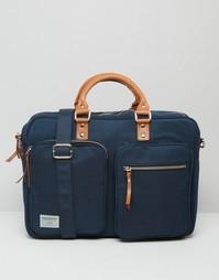 Синяя сумка для ноутбука Sandqvist Arne Cordura - Синий