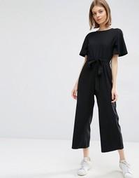 Комбинезон в стиле кимоно с брюками-кюлотами ASOS - Черный