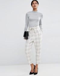 Клетчатые брюки с мешковатым поясом ASOS - Мульти
