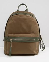 Рюкзак цвета хаки Pieces - Оливково-зеленый